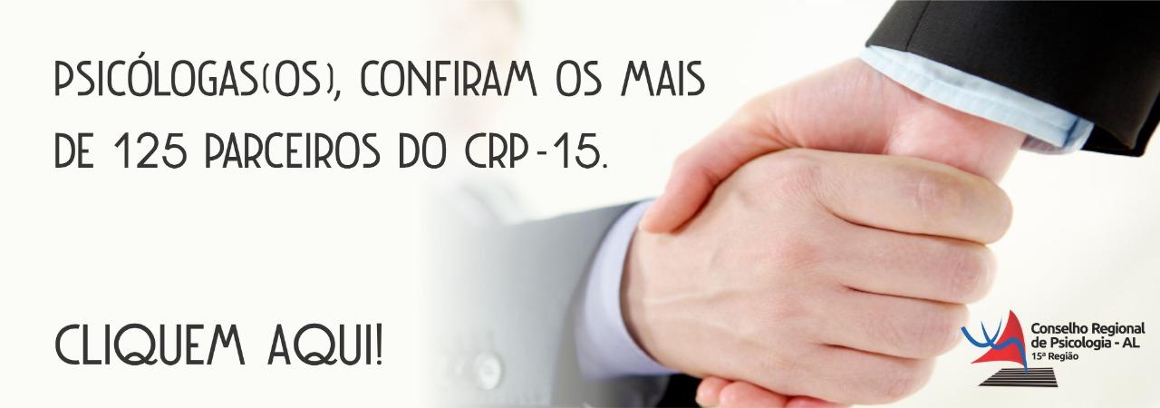 Confira os mais de 125 parceiros do CRP-15