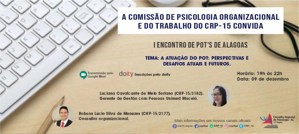 Comissão do CRP-15 promove I Encontro de POT´S em Alagoas